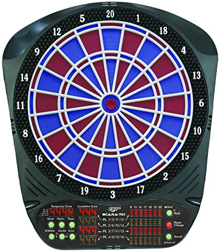 elektronische Dartscheibe Dartboard Scara 701 2-Loch inkl. 6 Roleo Dartpfeile