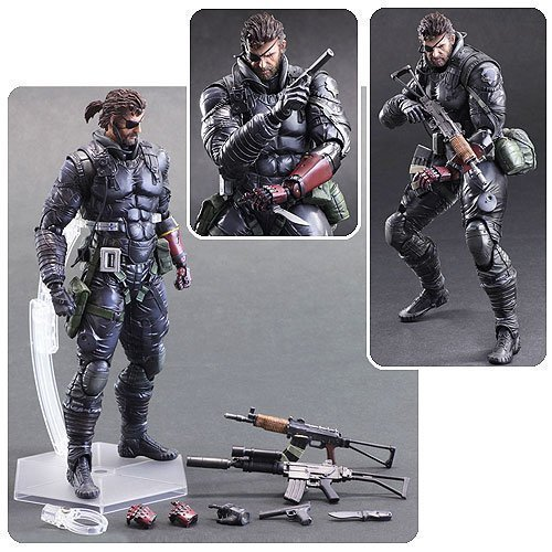 Metal Gear Solid V: The Phantom Pain Venom Snake Sneaking Suit Version Play Arts Kai Action Figure by Metal Gear Solid V (Solid Snake Play Arts)