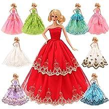 Miunana 5X Vestidos Princesa Novia Ropa de Fiesta Boda como Regalo para Muñeca Barbie Doll