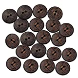 #10: Segolike 50 Pieces Vintage Round Flower Floral 2 Holes Wood Sewing Buttons Clothes Accessories 18mm