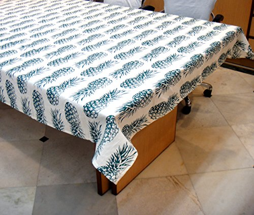 Miyanbazaz Textiles Eid special 100% Pineapple design Cotton Table Cover/ Tablecloth (Green)...