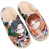 Zapatillas de Estar por Casa Felpa Japonesas Lindas de Anime para Hombres y Mujer de Otoño e Invierno Zapatos Casuales Cálido