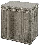 korb.outlet Wäschekorb/Wäschebox mit Deckel und Inlett aus echtem Rattan