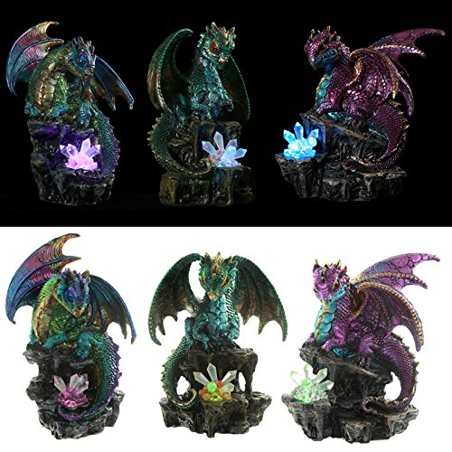 16 Seher (Seher Fantasy Nightmare Drache Dragon Figur–Höhe 15–18cm Breite 11,5–12,5cm Tiefe 8–10cm)