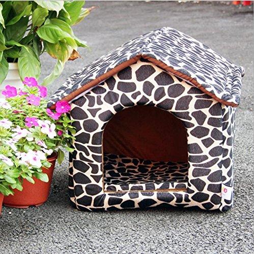 Portable piccole e medie pet House-morbido, caldo confortevole gatto e cane domestico , black and white