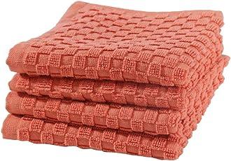 Maspar Irvin Solid 4 Piece 550 GSM Cotton Face Towel Set - Orange