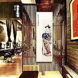 Belingeya Einfache Moderne Hängende Malerei Dekorative Leinwand Schönheit Malen Auf Falt Leinwand Wände Rahmen for Schlafzimmer Wohnzimmer Sushi Restaurant Wohnkultur (Farbe : 01, Größe : 33x93cm)