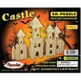 Desconcertado 1027 Castillo 3D Madera Natural Puzzle - 52 Piezas