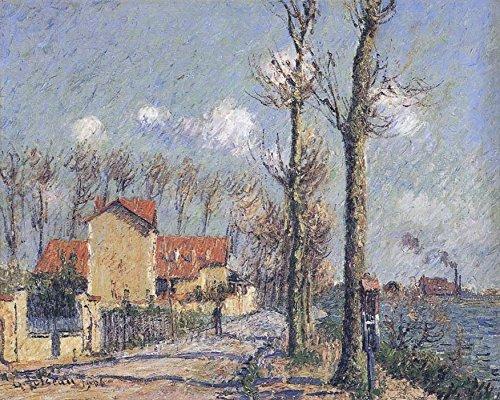 Das Museum Outlet-Die Quay von pothius in Pontoise, 1906-Poster (mittel)