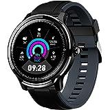 GOKOO Bluetooth Smartwatch Hombre Reloj Inteligente Fitness IP68 Impermeable Actividad Monitor Pulsómetro Compatible con Andr