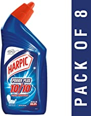 Harpic Power Plus Disinfectant Toilet Cleaner, Original, 500ml (Pack of 8)