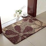 Aik@ Anti-rutsch Absorbierenden Badezimmer Fußmatte,Teppich Kithcen Fusselfrei Rechteck Polyester Eintrag matte-I 50x80cm(20x31inch)