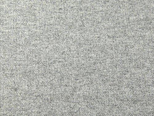 Polyester & Wolle Herringbone Tweed Beschichtung Kleid Stoff, Meterware, hellgrau Polyester Tweed