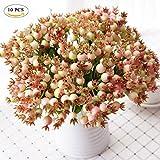 10pezzi 12mini testa bacche Natale frutta artificiale falso frutta melograno fiore artificiale bouquet wedding party Home Office Pink