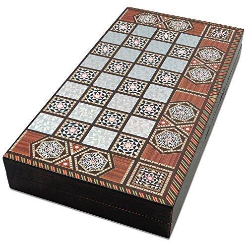Preisvergleich Produktbild The 19'' Magic Star Backgammon Turkish Premium Board Game Set