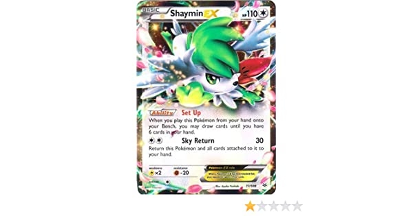 Pokemon Shaymin Ex 77108 Xy Roaring Skies Holo By Pokèon