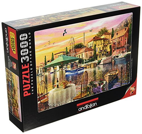 Anatolian/Perre Group ANA.4905 - Puzzle - Sunset Harbour, 3000-Teilig - Terrasse Sonnenuntergang