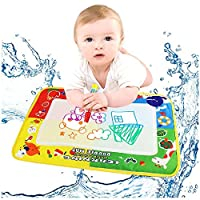 Rcool Baby Kid Fun 46*30cm Four-color Water Drawing Mat Board with Magic Water Pen Doodle Magic Canvas Toy Gift