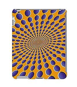 Fuson 3D Printed Colour Pattern Designer Back Case Cover for Apple iPad 6 - D702