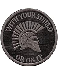 WITH YOUR SHIELD OR ON IT Kryptek Typhon Spartan Helmet Morale Embroidered Hook-and-Loop Patch