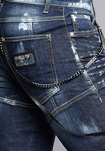Cipo & Baxx Homme Jeans Straight Fit Nankin Bleu