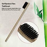 Black Environment-friendly Wood Toothbrush Bamboo Toothbrush Soft Bamboo Fibre