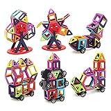 LUXJET Magnetische Bauklötze, ABS-Kunststoff, kreatives und lehrreiches Geschenk für Kinder, 95 Teile