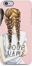 Personalised Best Friend Custom Text Blonde Bestfriend Name Initials Every Blonde Needs A Brunette Best friend Schutzhülle aus Hartplastik Handy Hülle für iPhone 6 / iPhone 6s Case Hard Cover