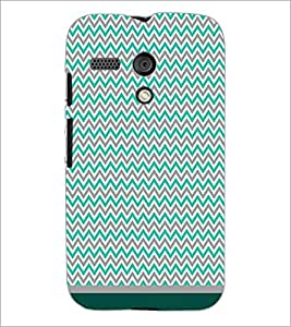 PrintDhaba Zig Zag Pattern D-1687 Back Case Cover for MOTOROLA MOTO G (Multi-Coloured)
