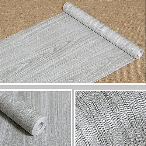 Grain de bois contacter papier autocollant étagère Liner couvrant pour comptoir de cuisine Armoires Table murale Porte Desk (Gris, 45cm L x 998,2cm L)