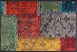 Wash&Dry 083115 Vintage Patches Fußmatte, Acryl, bunt, 75 x 50 x 0.7 cm