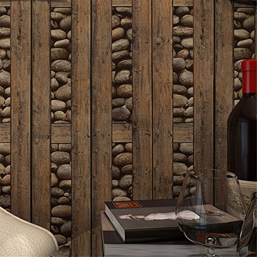 Weihnachten/Halloween/decoration Wallpaper Vintage Wall Paper Wasserdichte PVC Wallpapers 3D Stone Wallpaper Kontakt Papier 3D Wall Panels Vinyl Holz Wallpaper Roll für Wände Wallpaper