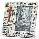 Roman Inc. Regalo 8,25'cristianos palabras y diciendo crucigrama), diseño de marco de fotos...