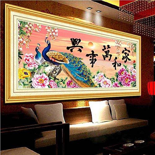Punto croce, fiore, Pavone, Stile Cinese, P0164