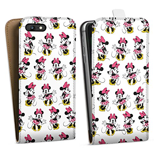 Apple iPhone X Silikon Hülle Case Schutzhülle Disney Minnie Mouse Merchandise Geschenke Downflip Tasche weiß