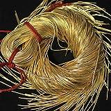 #6: Dapka for Aari & Zardosi Embroidery Work,1MM, Smooth Finish, Dark Golden Color(100 Gram)