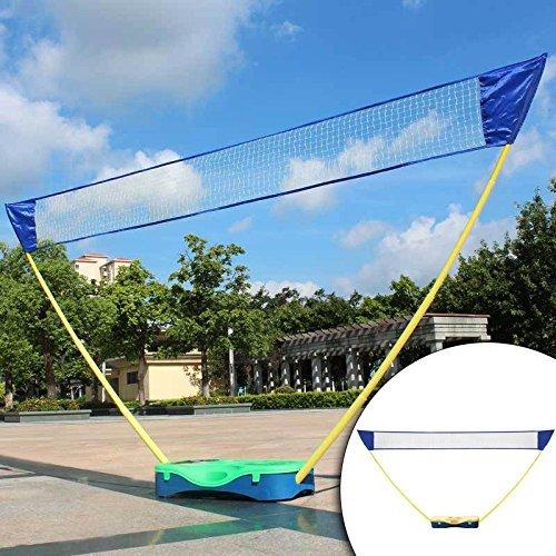 HLC Sportnetz Badmintonnetz für Badminton Set mit Gestell, Gelb
