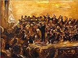 Posterlounge Impresión en Madera 130 x 100 cm: Concert in The State Opera, Unter den Linden de MAX Liebermann/ARTOTHEK