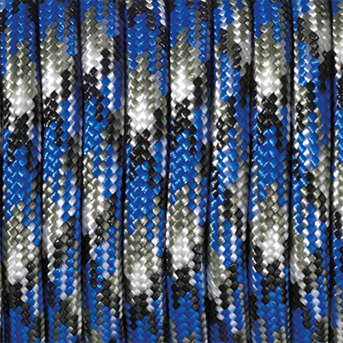 Paracord Multicolore 50 x 4 mm, Bleu/noir