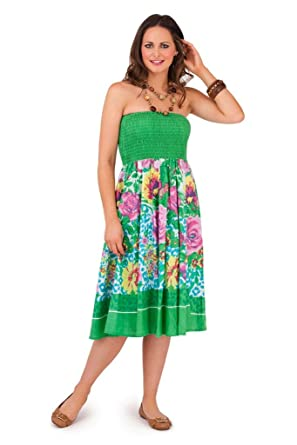 LORA DORA WOMENS 2 IN 1 STRAPLESS DRESS   ELASTICATED LONG MAXI ...