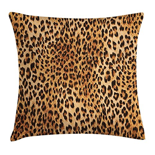Yuerb Fundas para Almohada Animal Print Wild Animal Leopard Skin Pattern Wildlife Nature Inspired Modern...