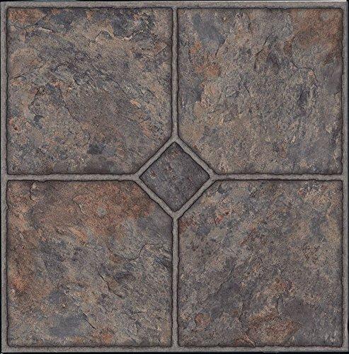 60x Azulejos de suelo de vinilo–autoadhesivas–Cocina/baño Sticky–Nuevo–Classic Stone 184