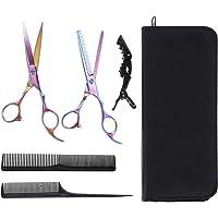 Lictin Haarschere Friseurscheren Set 2PC Friseurschere mit Box Haarschere Profi mit 2PC Kamm und Schwarzer Clip…