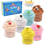 Cutiecute 6 Pack Butter Slime Kit,Super Soft & Non-Sticky, Stress Relief Toy Scented Sludge Toy for Kids Education, Party Fav