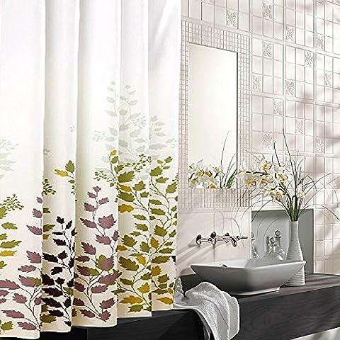 LIVY Bagno tenda di acquazzone del poliestere impermeabile spessore muffa a casa bagno Maple Leaf cinese ristorante Hotel insonorizzazione tende di partizione