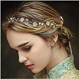 Braut Haarbänder, Haar Kamm Rebe Stirnbänder Strass Haarschmuck Blumen Hochzeit Haarteile Crystal Perlen Vintage Perle Haarkr