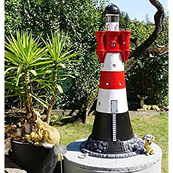 """XXL Leuchtturm """"ROTER SAND"""" DELUXE 180cm hoch +Beleuchtung"""