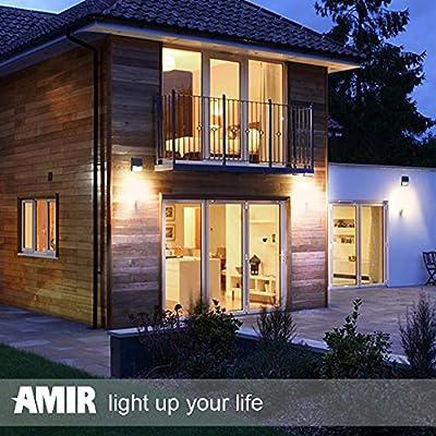Amir® 16 helle LED Solarleuchten Drahtlose Wetterfeste Sicherheits Licht-Lampen Bewegungs-Sensor für Garten, im Freien, Zaun, Patio, Terrasse, Garten, Haus, Auffahrt, Treppen, Außenwand usw.
