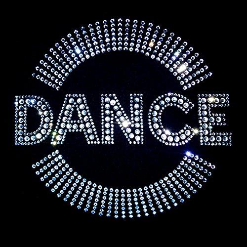 elegantes Shirt für Damen Strass Strass Schriftzug DANCE mit Bogen kristall Schwarz