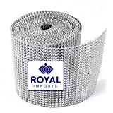 Royal Imports? Silver Diamond Rhinestone Bling Ribbon Roll 30 Feet (x 4.5